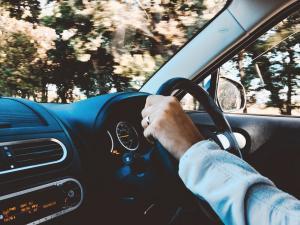 hands on the steering wheel